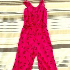 Sleeveless pink jumpsuit